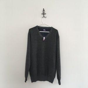 Billy London UK Gray V-Neck Sweater